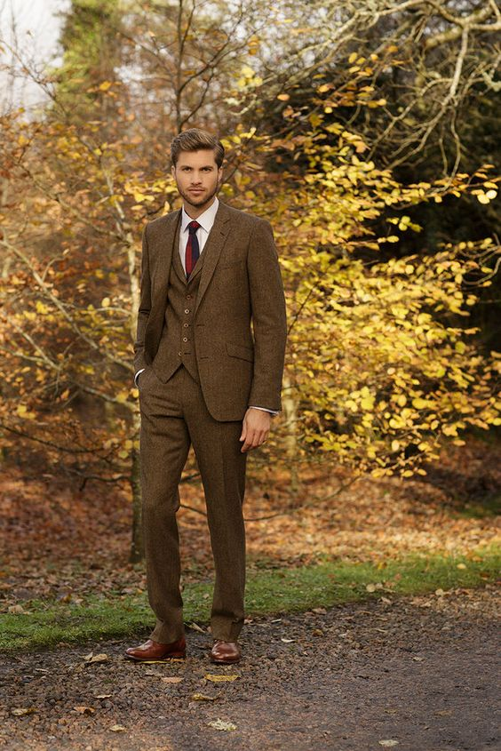 Brown Wedding Suits | Wedding Ideas by Colour | CHWV