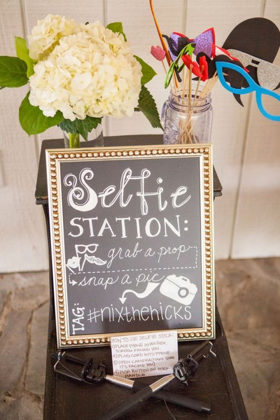 Wedding DIY: Build Your Own Photo Booth - Hashtag your wedding | CHWV
