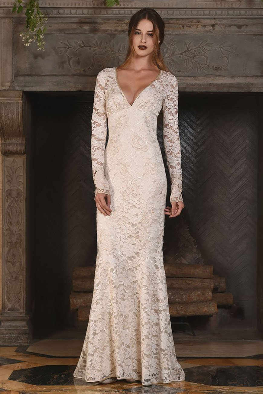 A Closer Look At Claire Pettibone Wedding Dresses - Amber | CHWV