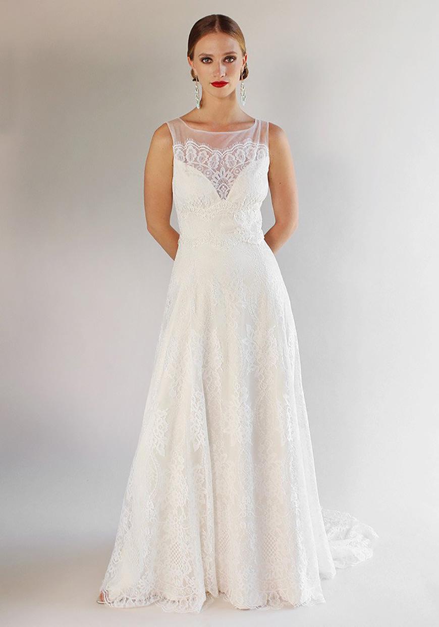 A Closer Look At Claire Pettibone Wedding Dresses - La Cienega | CHWV