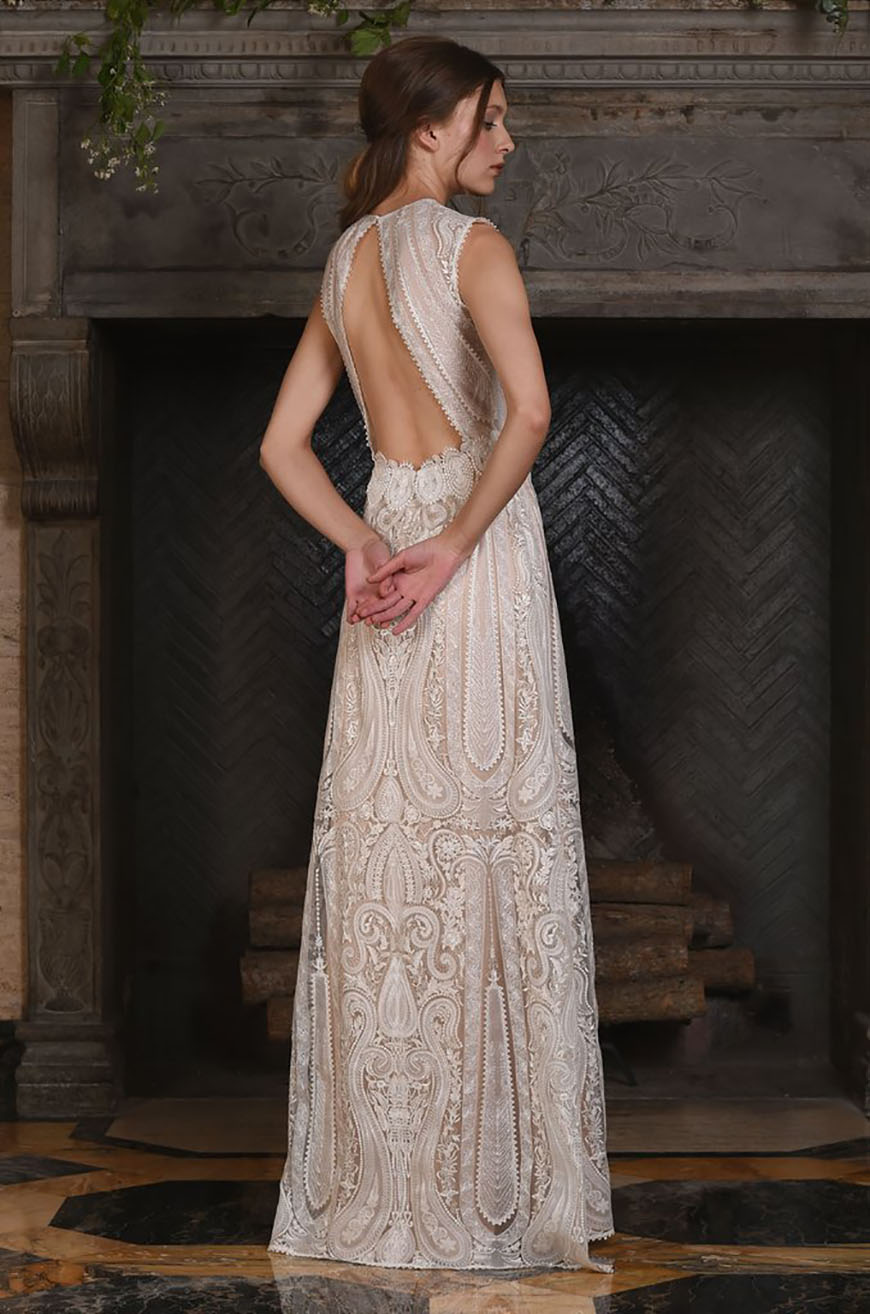 A Closer Look At Claire Pettibone Wedding Dresses - Solstice   CHWV