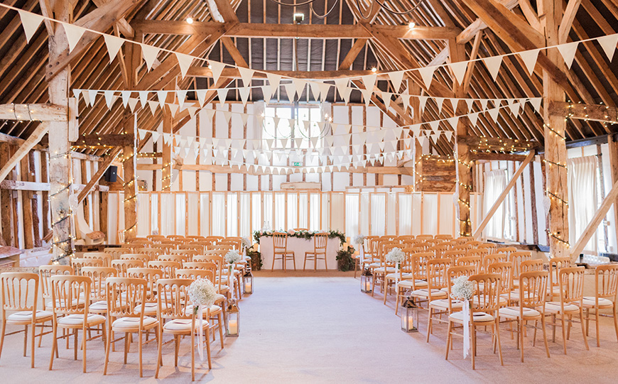 Choosing The Perfect Boho Wedding Venue - Clock Barn | CHWV
