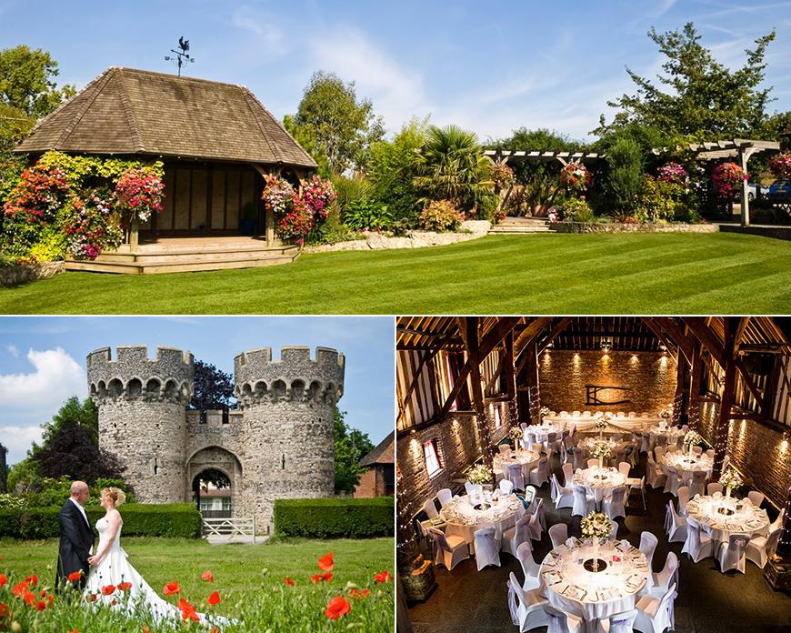 Cooling Castle Barn - Stunning Summer Wedding Setting
