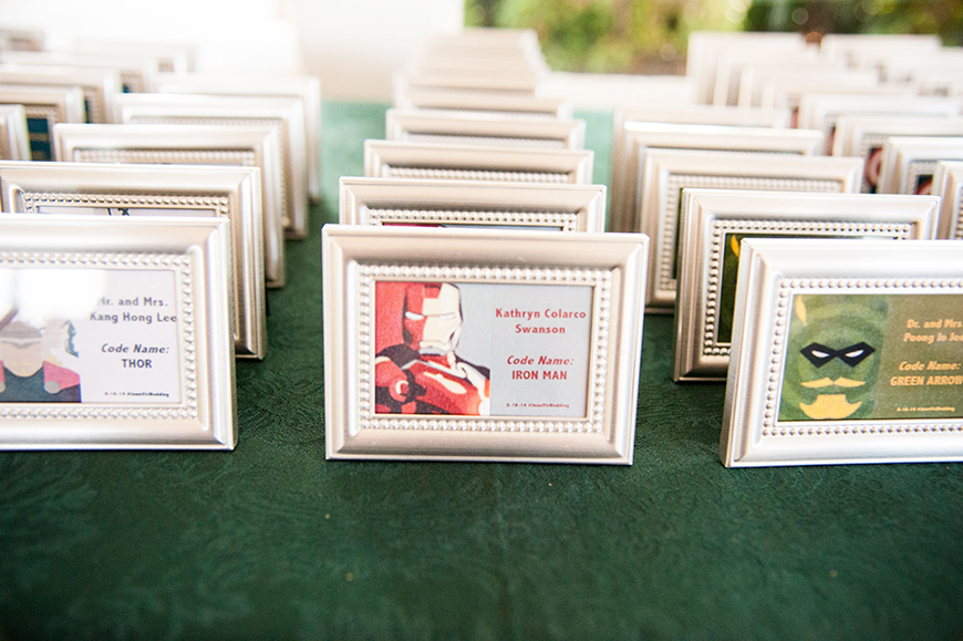 30 Amazing Wedding Table Name Ideas - Enter the comic universe | CHWV