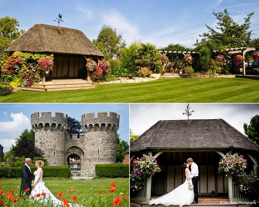 Cooling Castle Barn wedding venue in