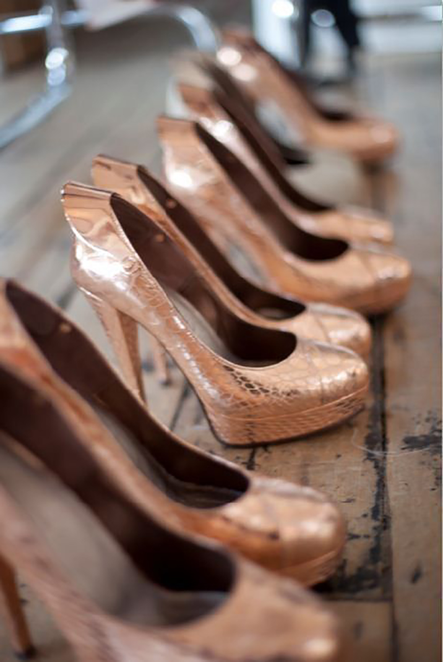 Wedding Ideas by Colour: Copper Bridal Shoes | CHWV
