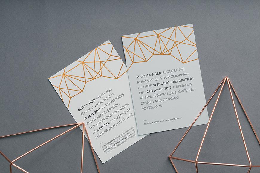 Wedding Ideas By Colour: Copper Wedding Theme - Stationery | CHWV