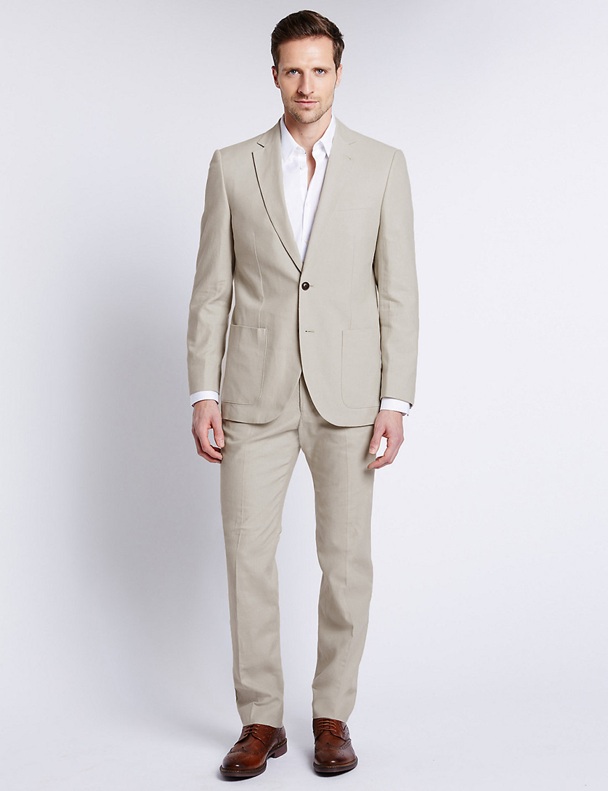 Weddings Ideas by Colour: Cream Wedding Suits - Relaxing a Little | CHWV