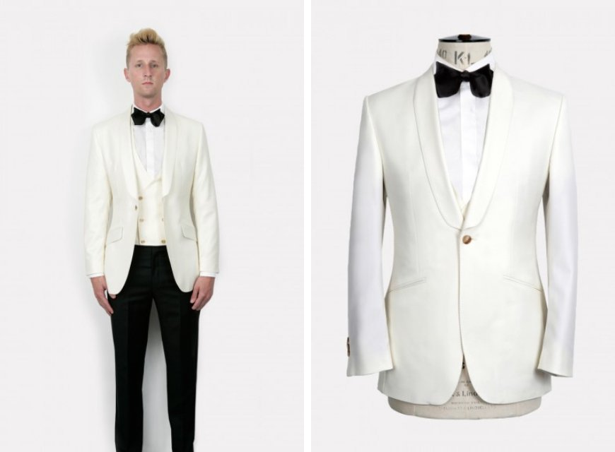 Weddings Ideas by Colour: Cream Wedding Suits - Evening Attire | CHWV