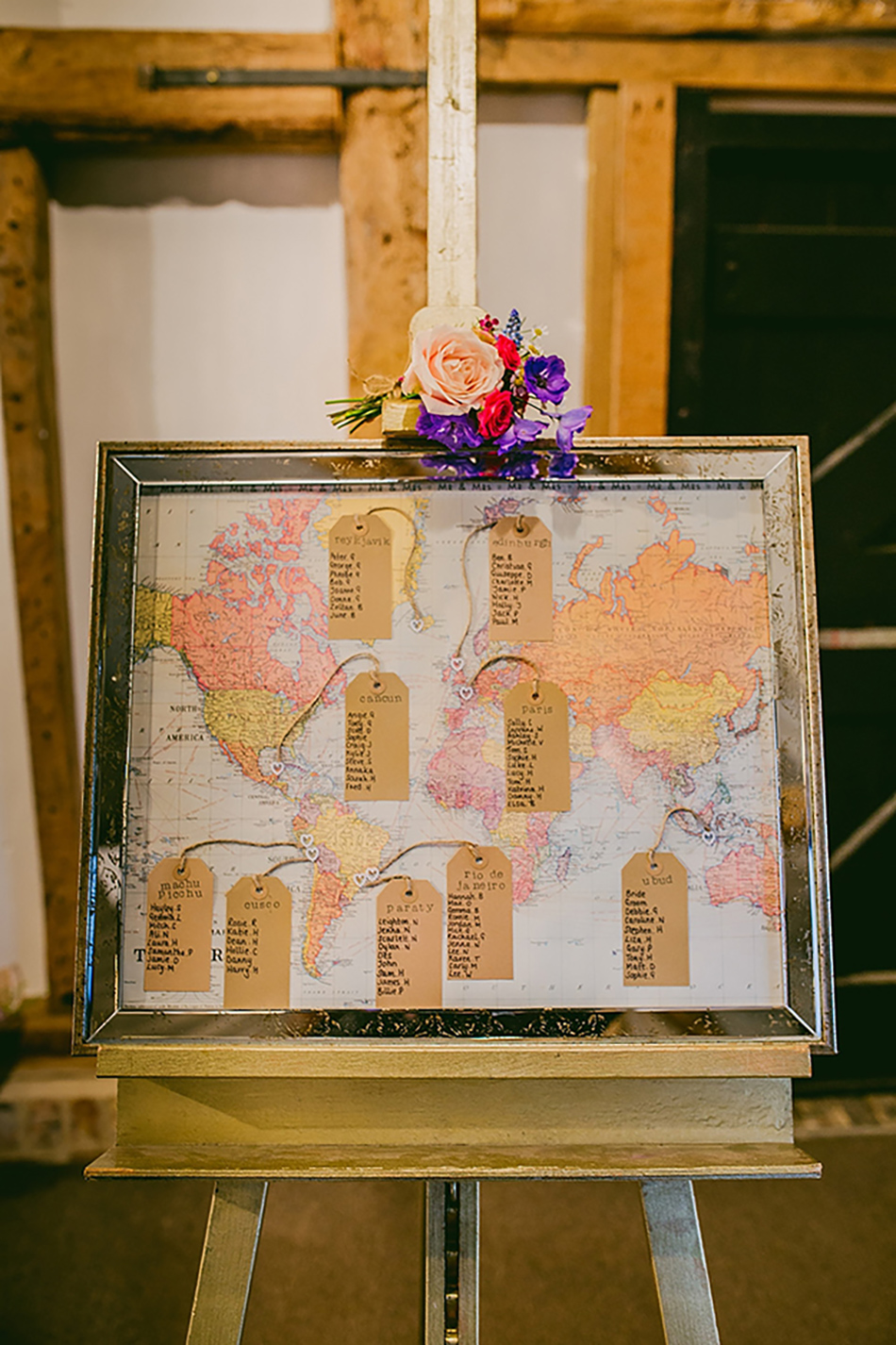 Creative wedding seating plan ideas