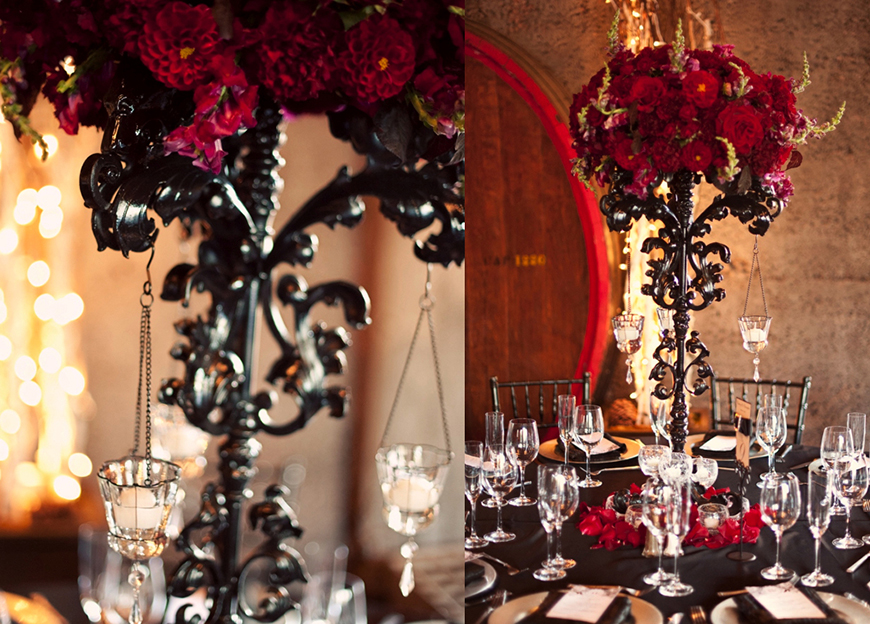 Daring Dark Florals For a Gothic Wedding Theme | CHWV