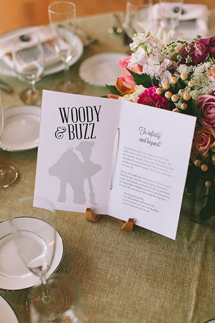 Wedding Table Name Ideas: Disney - Contemporary Movies | CHWV