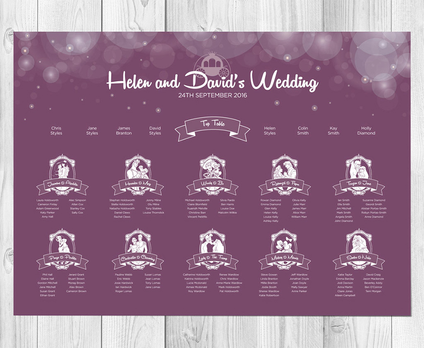 Table Names Wedding disney wedding table name ideas | chwv