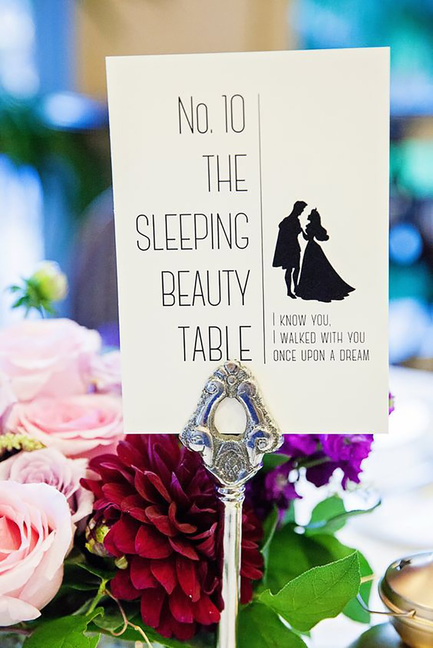 Wedding Table Name Ideas: Disney - Princesses | CHWV