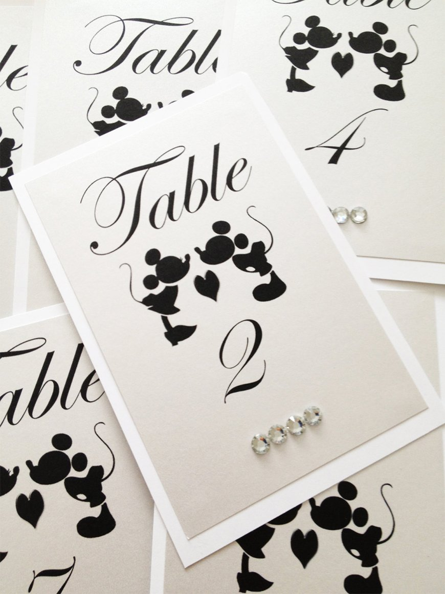 Wedding Table Name Ideas: Disney - The Classics | CHWV