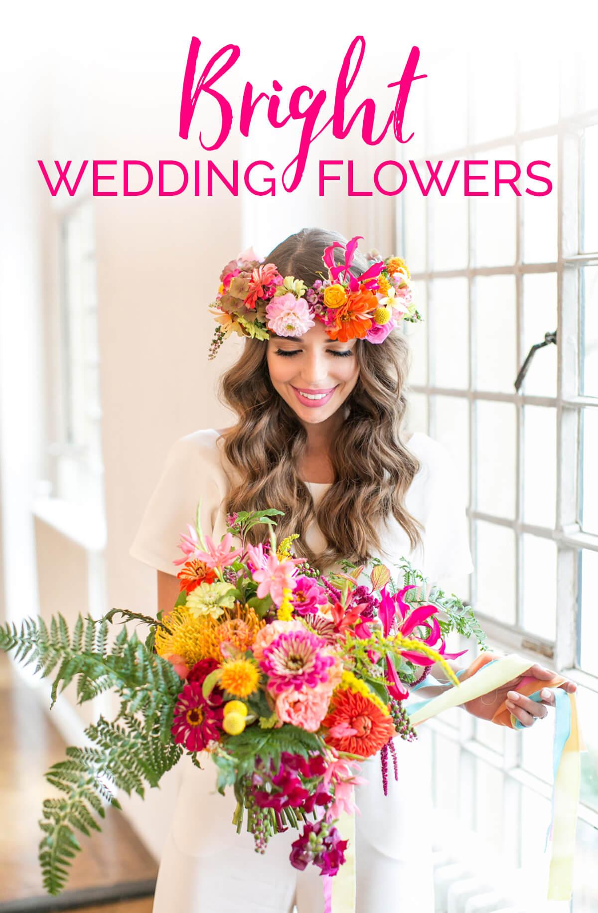Wedding Ideas By Colour: Bright Wedding Flowers   CHWV