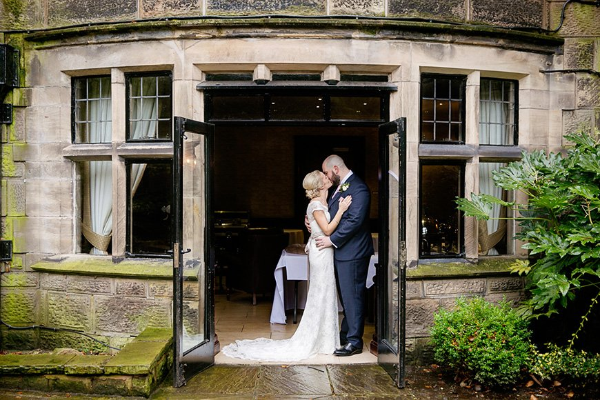 A Winter Woodland-Inspired Wedding in Lancashire - Kiss | CHWV