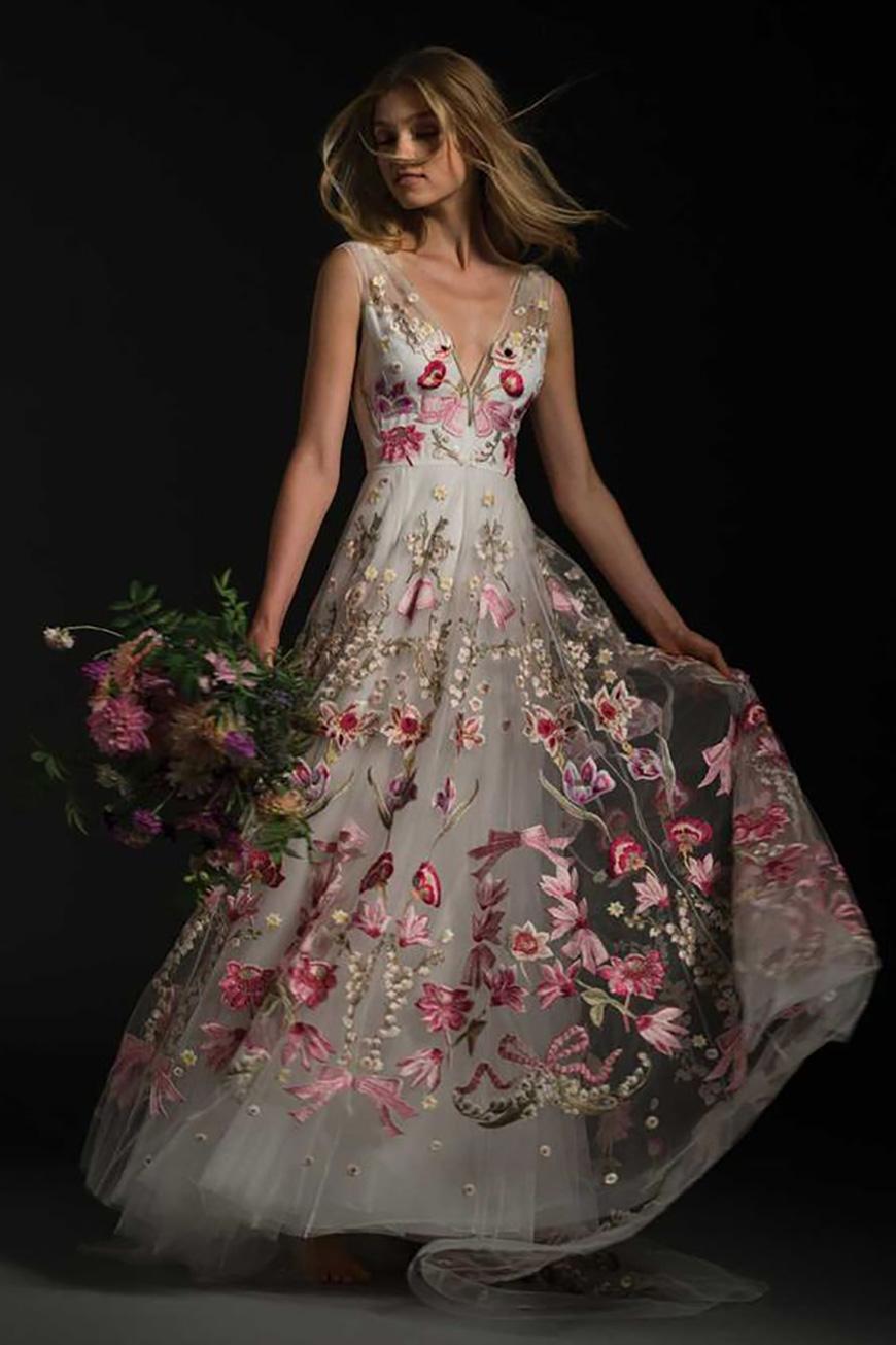 Fantastic floral wedding dresses chwv junglespirit Gallery