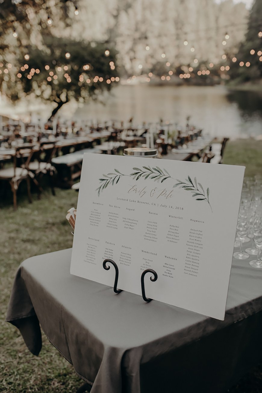 30 Amazing Wedding Table Name Ideas - Special places | CHWV