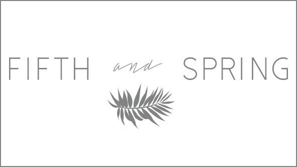 Fifth and Spring Bridal hair accessories logo | CHWV