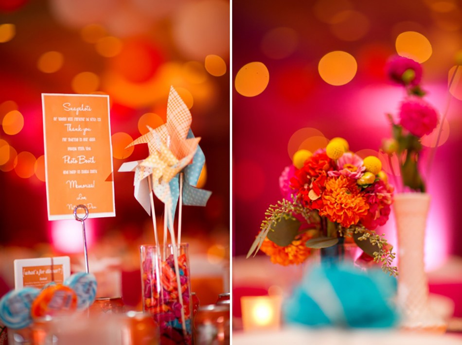 Fun wedding centrepiece ideas
