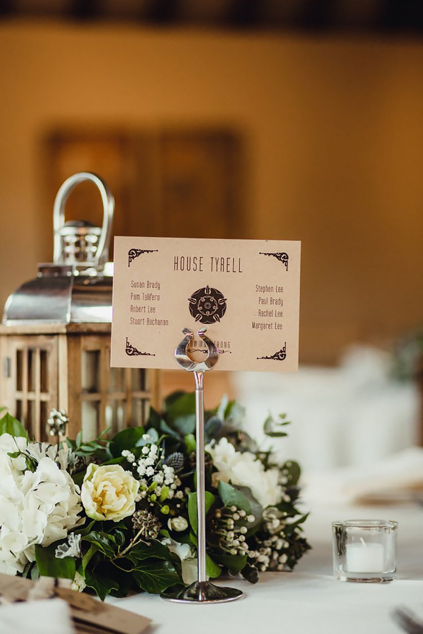 30 Amazing Wedding Table Name Ideas - Winter is coming | CHWV