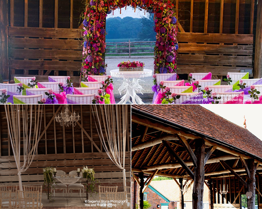 An outdoor wedding ceremony - Gaynes Park | CHWV