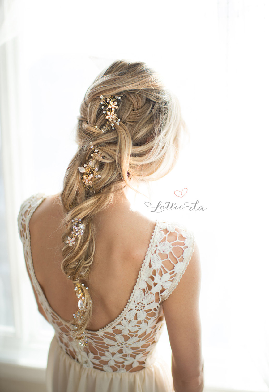 Wedding hair accessories gloucestershire - Wedding Ideas By Colour Gold Hair Accessories Alternative Vine Chwv