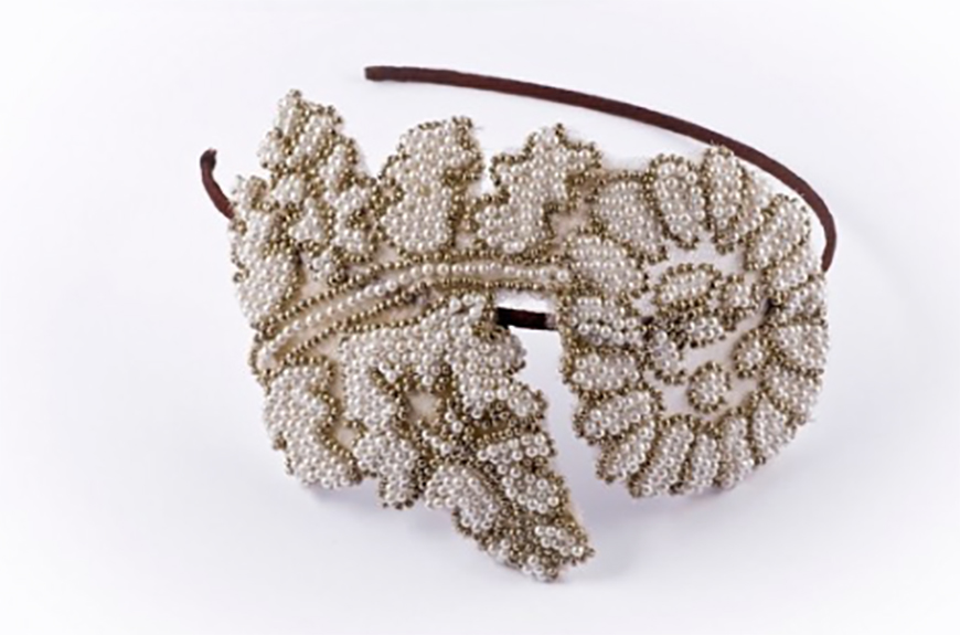 Wedding Ideas by Colour: Gold Hair Accessories - Beaded | CHWV