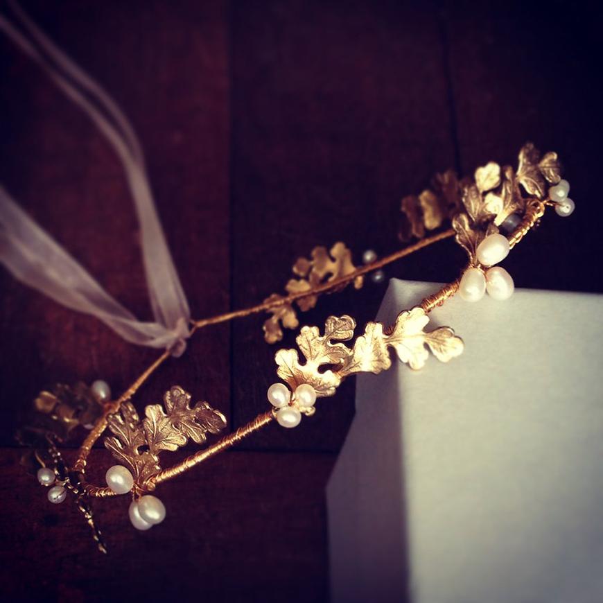 Wedding Ideas by Colour: Gold Hair Accessories - Circlet   CHWV