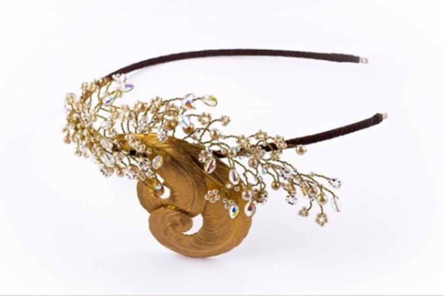 Wedding Ideas by Colour: Gold Hair Accessories - Vintage | CHWV