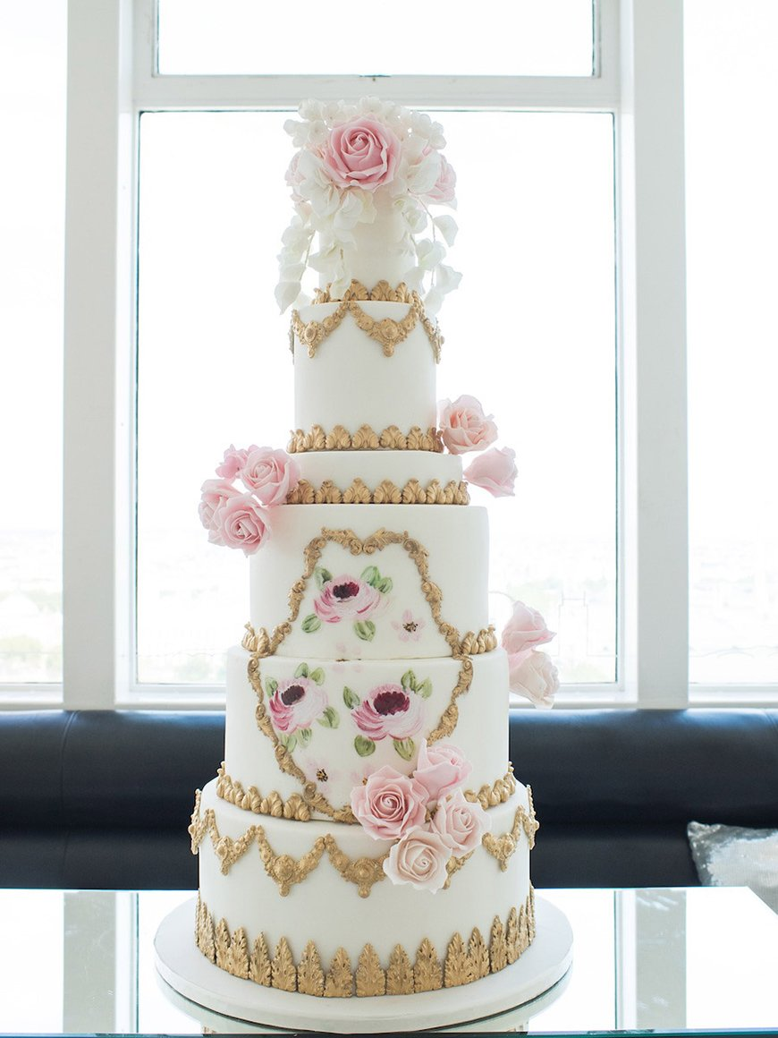Wedding Ideas By Colour Gold Cakes