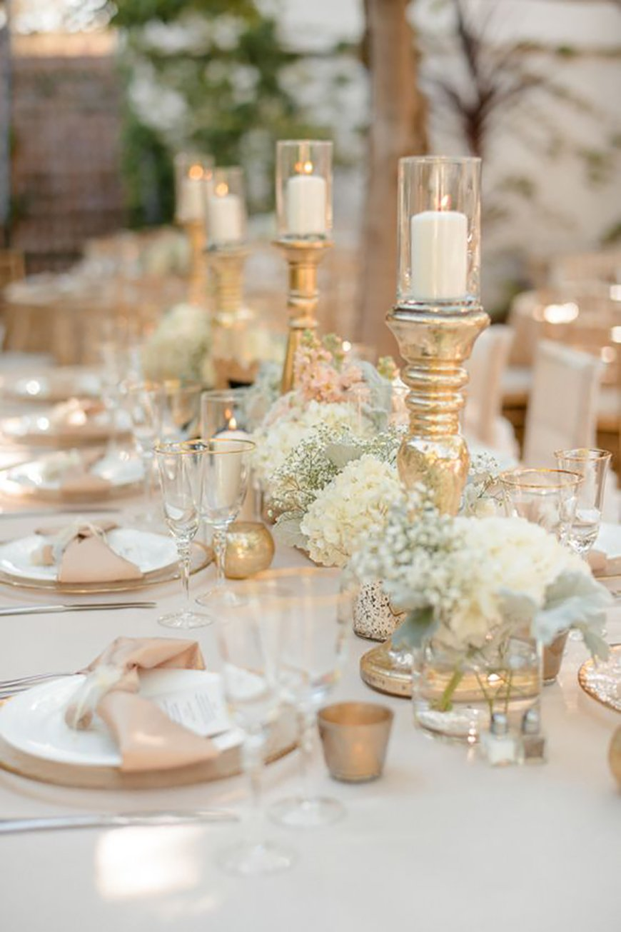 Gold wedding decorations ideas by colour chwv