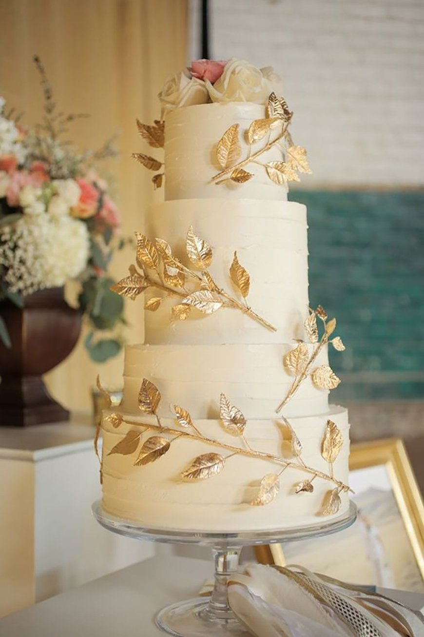 gold and white square wedding cakes gold wedding theme wedding ideas by colour chwv 14742