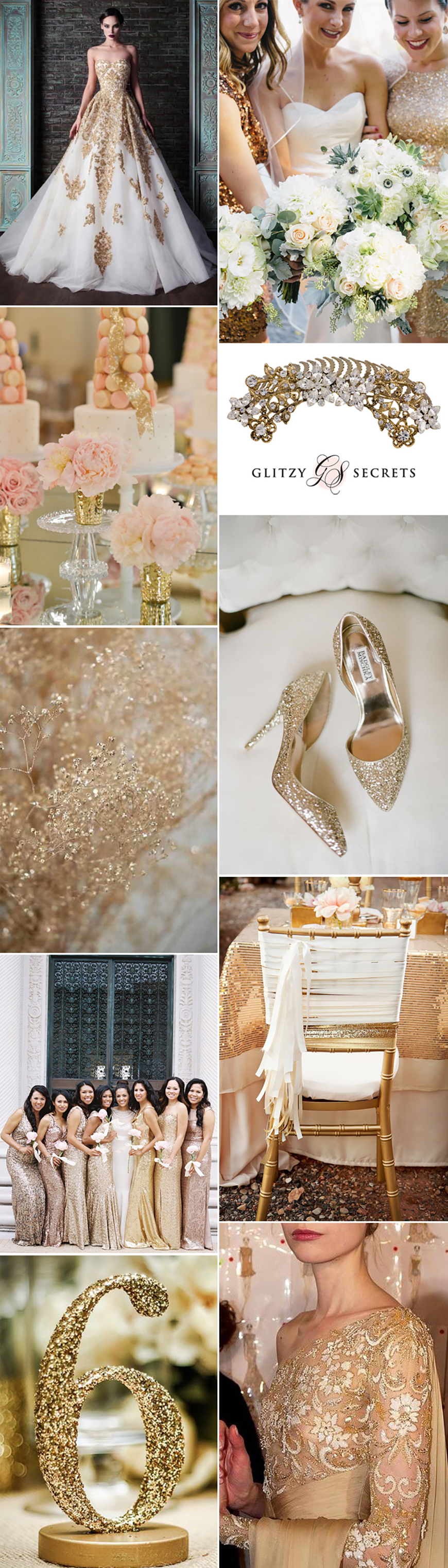 Wedding Ideas by Colour: Gold Wedding Dresses - Complete the look | CHWV