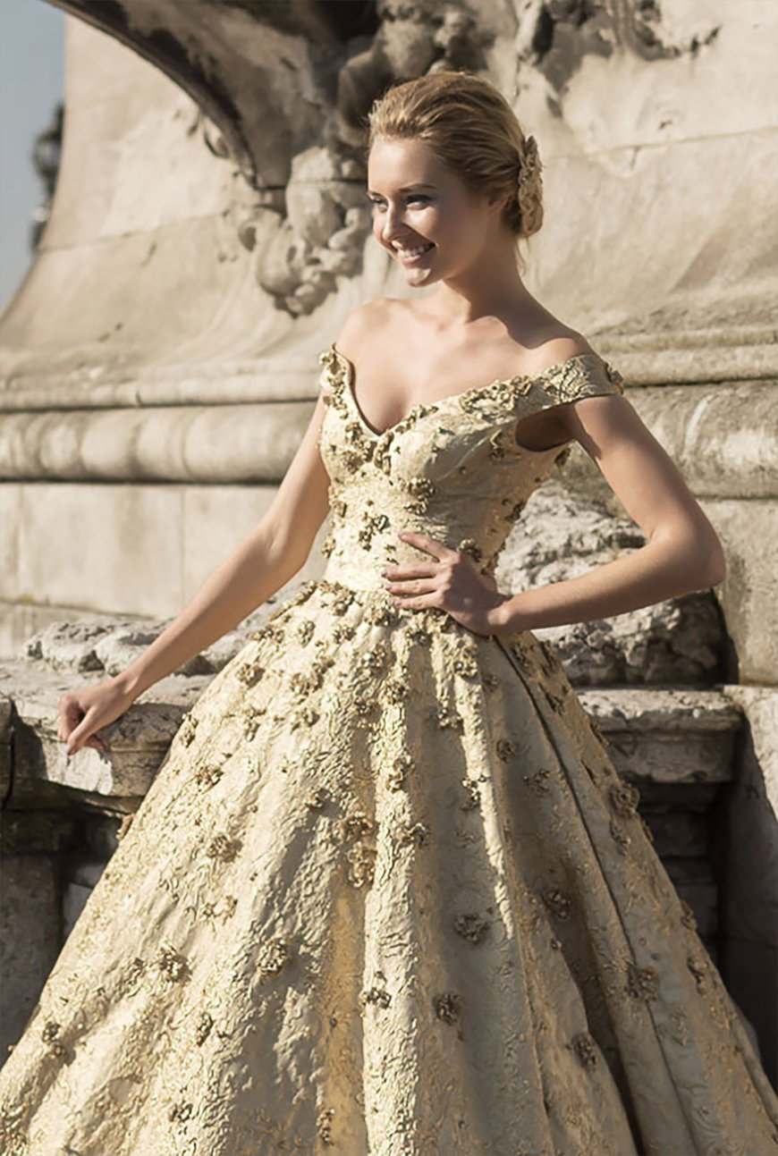 Wedding Ideas by Colour: Gold Wedding Dresses - Go for gold | CHWV
