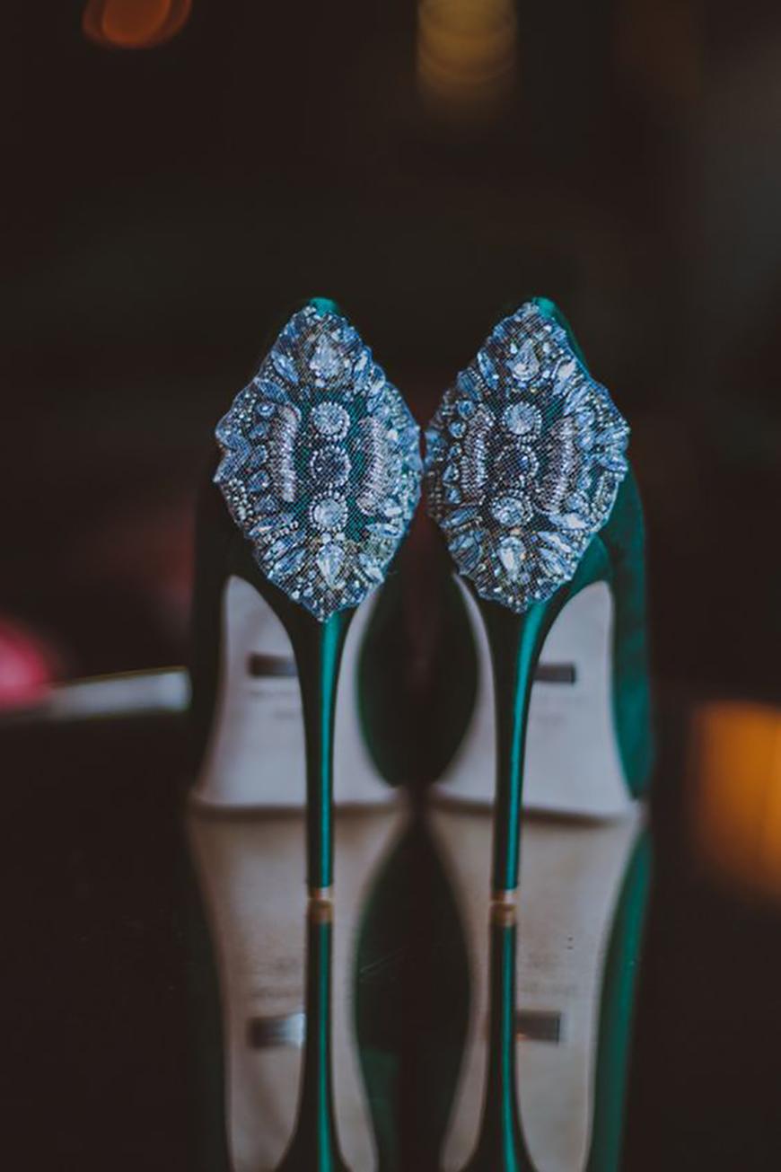 Wedding Ideas by Colour: Green Wedding Shoes | CHWV