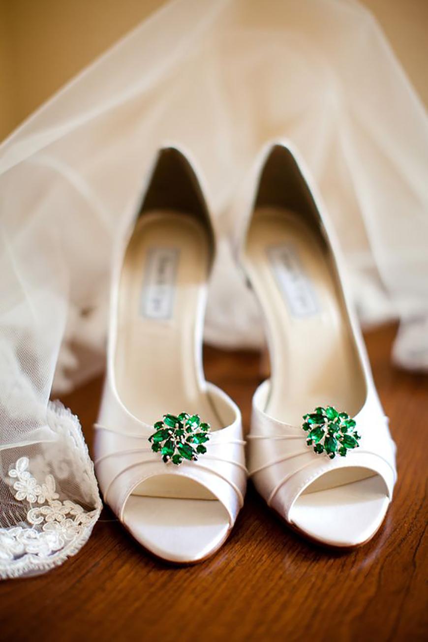 Green Wedding Shoes | Wedding Ideas By Colour | CHWV