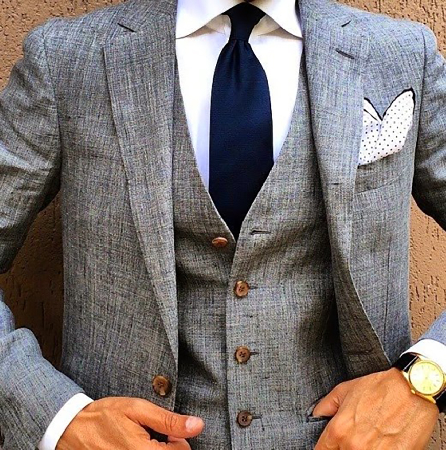 Grey Suit Wedding