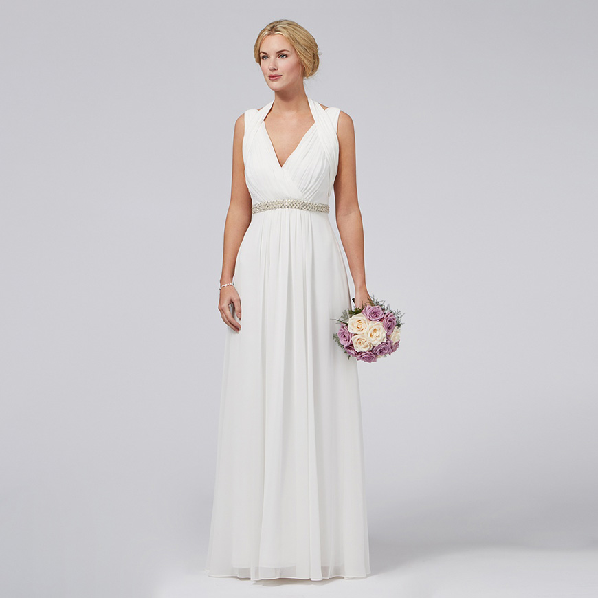 amazing grecian style wedding dress this simple and elegant dress