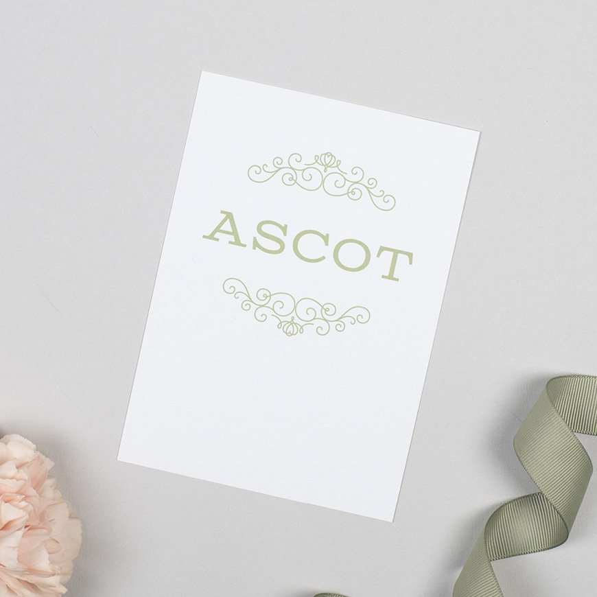 30 Amazing Wedding Table Name Ideas - A day at the races | CHWV