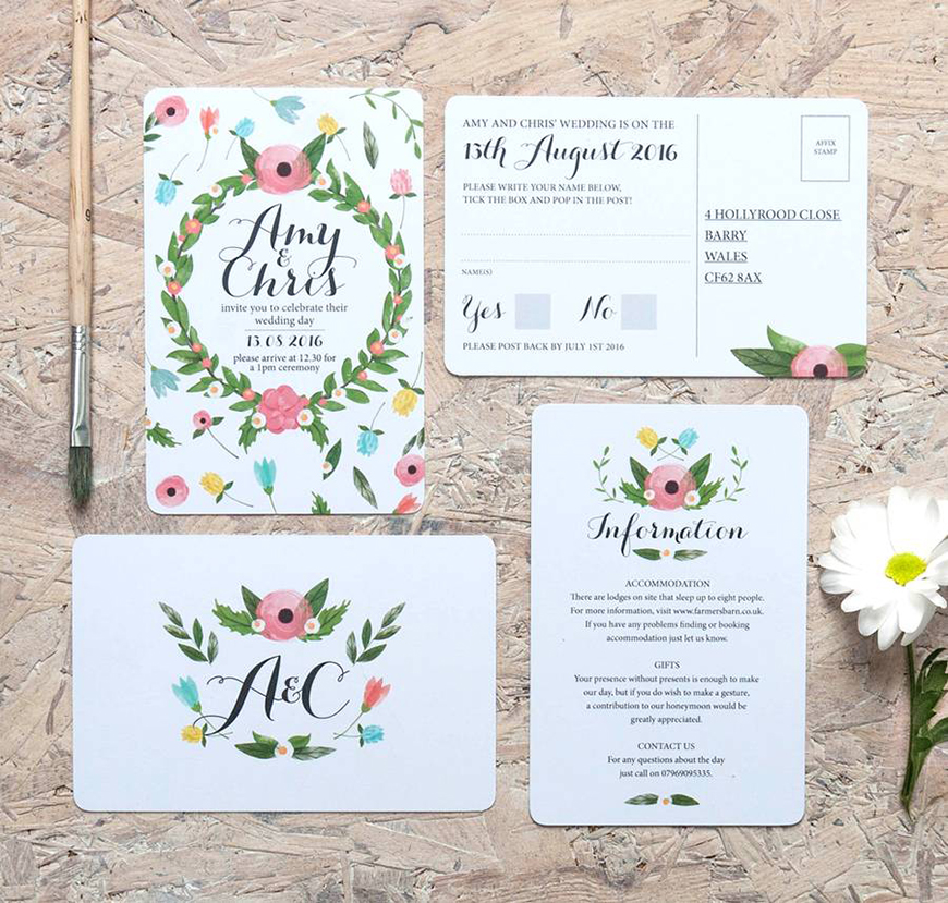 How To Get That Glorious Garden Wedding Theme - Putting it on paper | CHWV