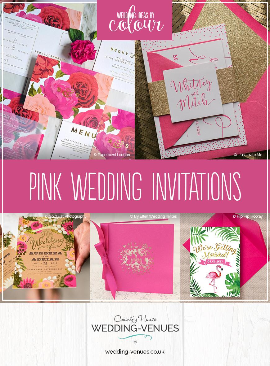Wedding Ideas By Colour: Pink Wedding Invitations | CHWV