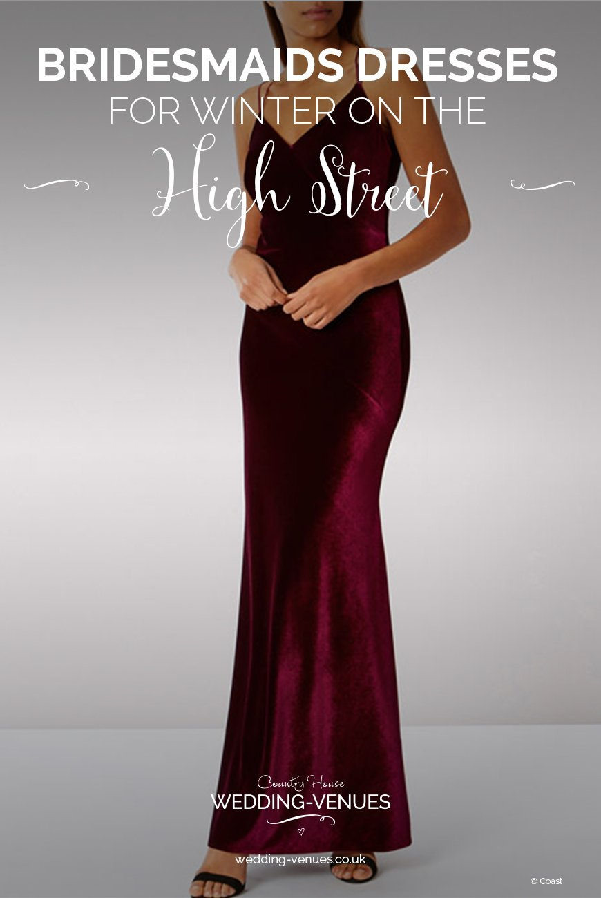 High Street Bridesmaid Dresses For Winter | CHWV