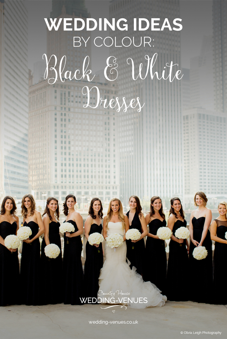 Wedding Ideas By Colour: Black and White Wedding Dresses | CHWV
