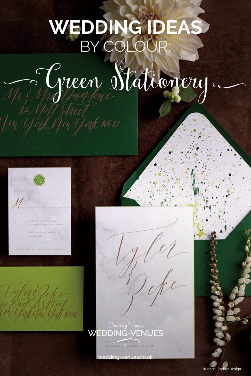 Green Wedding Stationery | Wedding Ideas By Colour | CHWV