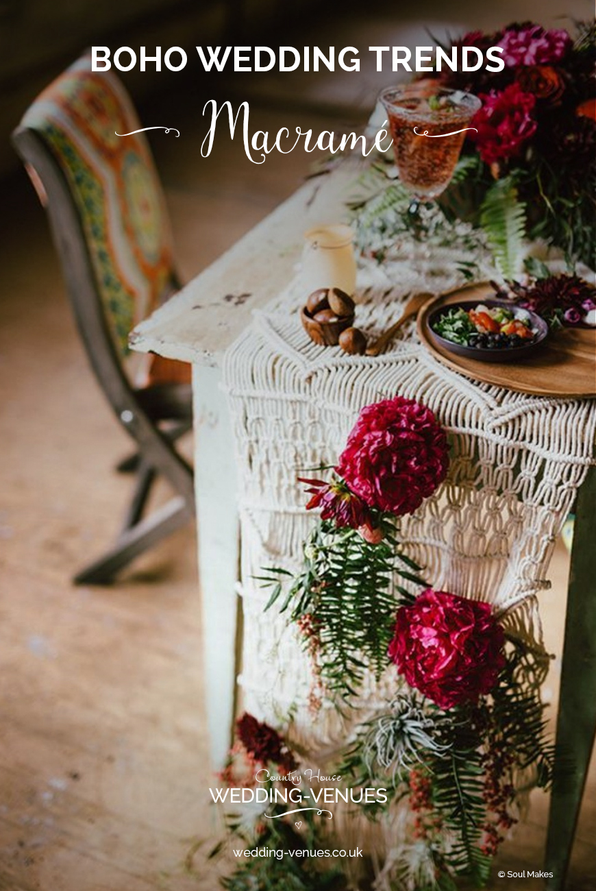 3e70df41d3dd Boho Wedding Trends - Macramé | CHWV