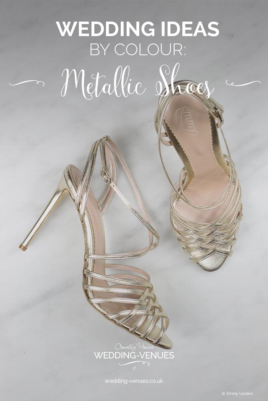 Wedding Ideas By Colour: Metallic Wedding Shoes | CHWV