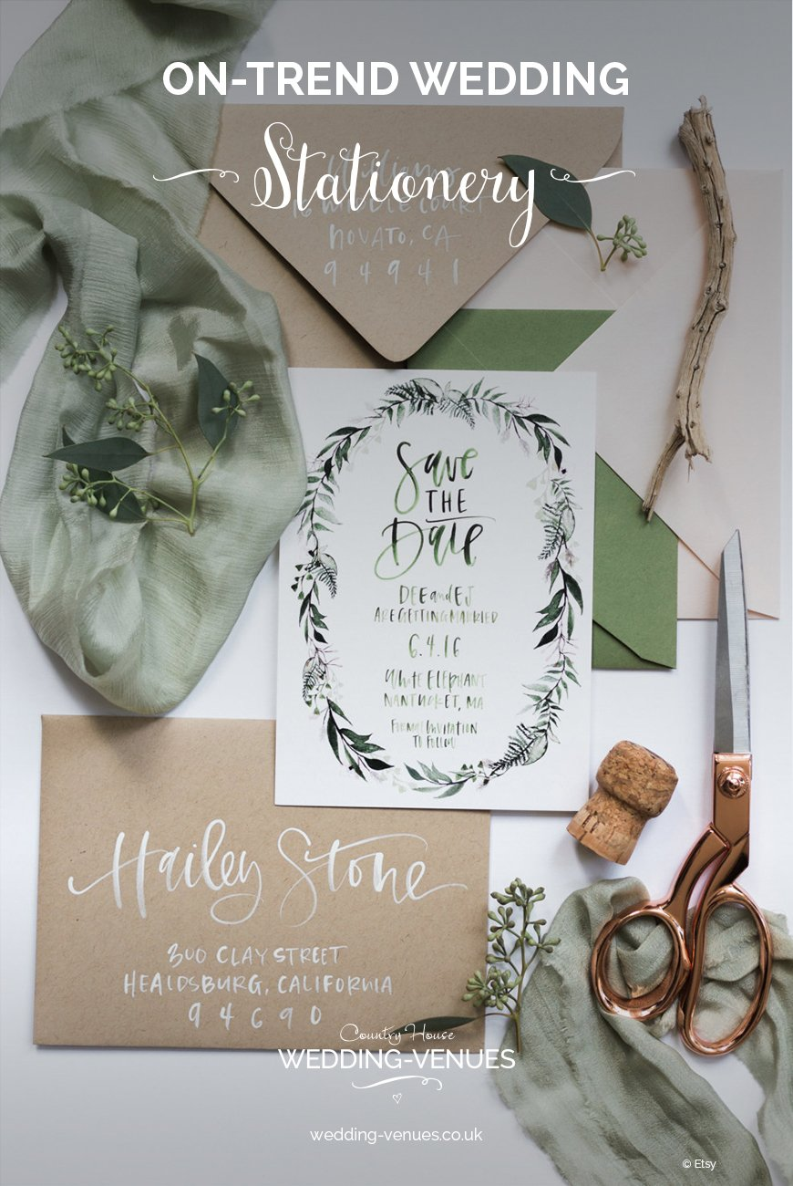 On-Trend Wedding Stationery For 2018 | CHWV