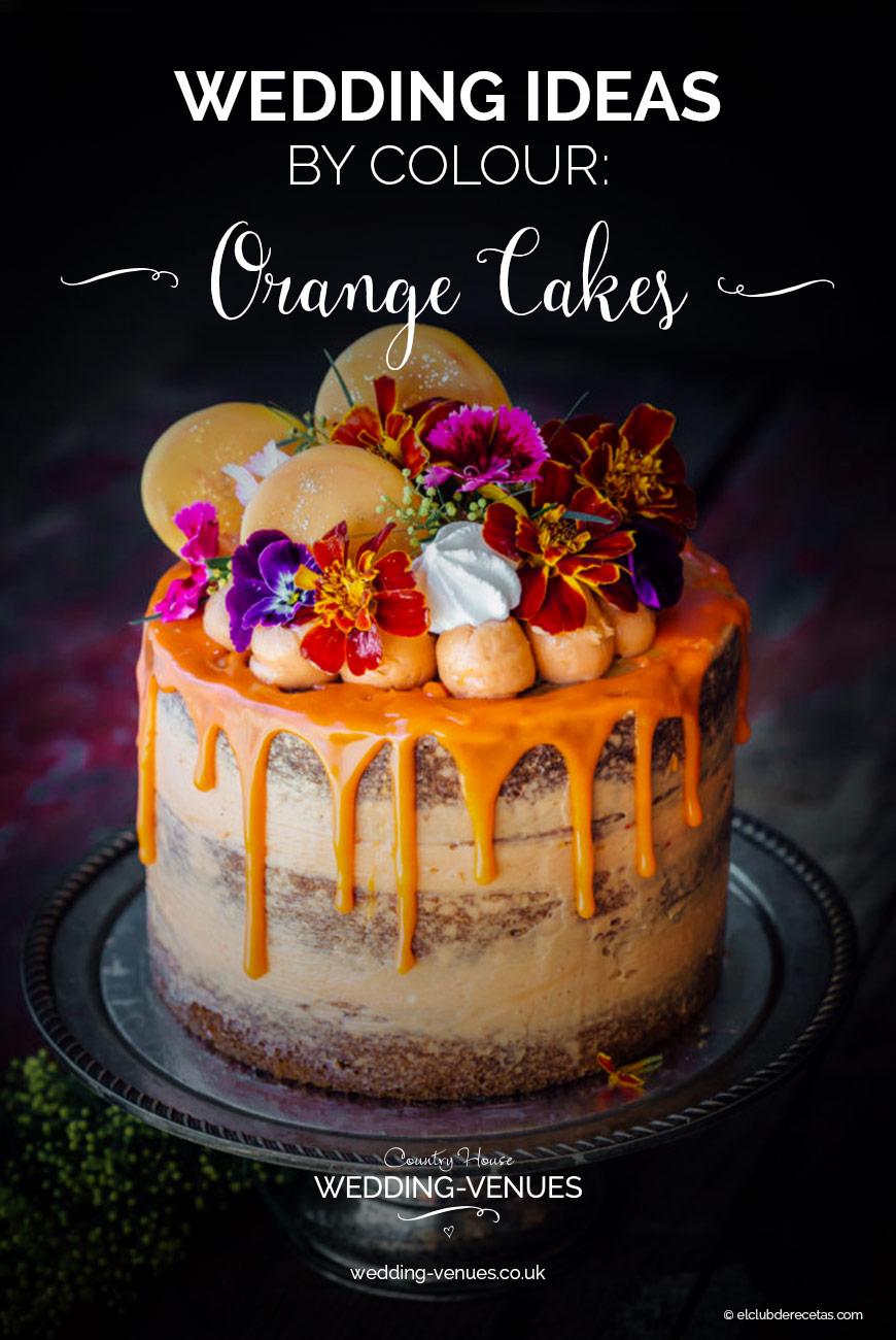 Wedding Ideas By Colour: Orange Wedding Cakes | CHWV